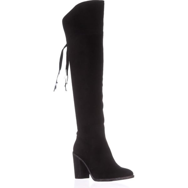Franco Sarto Ellyn Over The Knee Boots, Black - 7.5 us / 37.5 eu