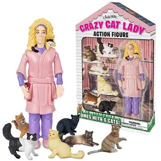 "Crazy Cat Lady 6"" Vinyl Action Figure - multi"