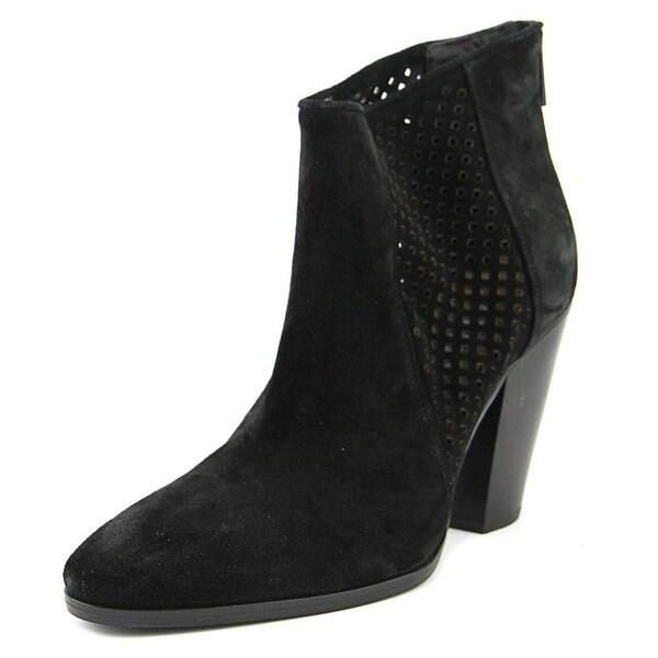 Diane Von Furstenberg Auletta Women Pointed Toe Suede Black Ankle Boot