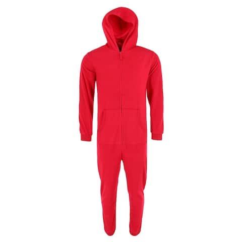 Boxercraft Adult Solid Polar Fleece Union Suit