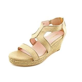 Taryn Rose Karsen Open Toe Synthetic Wedge Heel