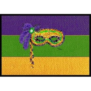Carolines Treasures 8384JMAT 36 x 24 in. Mardi Gras Indoor Or Outdoor Doormat