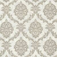 Brewster 495-69062 Tennyson Pewter Shimmer Damask Wallpaper