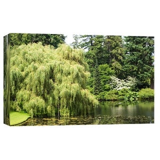 """PTM Images 9-102208  PTM Canvas Collection 8"""" x 10"""" - """"Forest Lake"""" Giclee Trees Art Print on Canvas"""