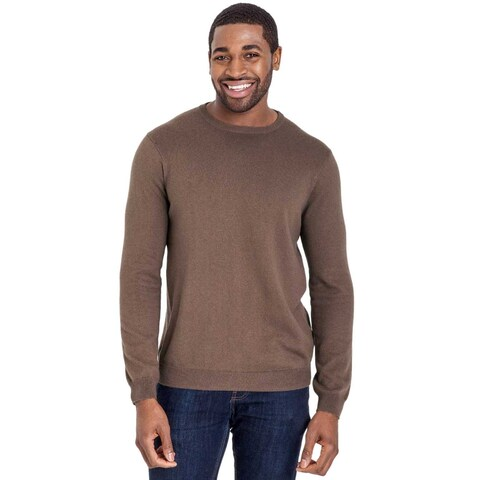 Bloomingdales Mens 2-Ply Cashmere Crewneck Sweater Small S Mocha Knitwear