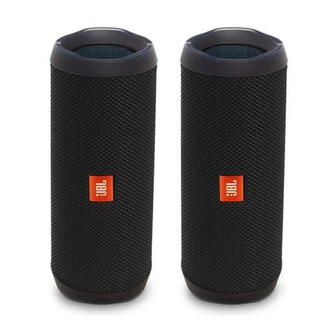 JBL Flip 4 Portable Waterproof Bluetooth Speaker - Pair (Factory Certified Refurbished)
