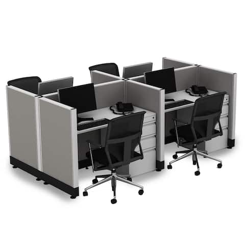 Small Office Cubicles 39H 4pack Cluster Unpowered