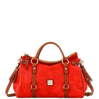 Dooney & Bourke Suede Satchel (Introduced by Dooney & Bourke at $368 in Sep 2016) - Tomato