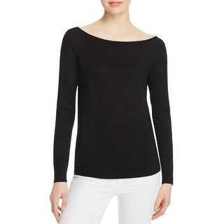Theory Womens Ebliss Pullover Sweater Merino Wool Ribbed Trim - p