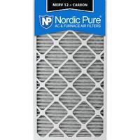 Nordic Pure 20x30x1 Pleated MERV 12 Plus Carbon AC Furnace Air Filters Qty 6