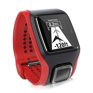TomTom Runner Cardio Black/Red GPS Enabled Sports Watch w/ Accurate In-Built Heart Rate Monitor