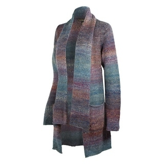 Noble Outfitters Sweater Women Ombre Scarf Patch Pockets Relaxed 27001