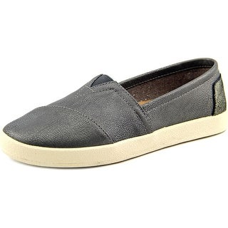 Toms Avalon Sneaker Women Round Toe Synthetic Gray Loafer