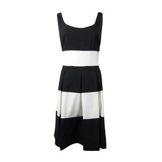 Lauren Ralph Lauren Women's Striped Scoop Neck A-Line Dress