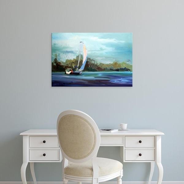 Easy Art Prints Carol Hallock's 'Sailboat' Premium Canvas Art