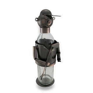 Gentleman Golfer Wine Holder Recycled Steel Bottle Display