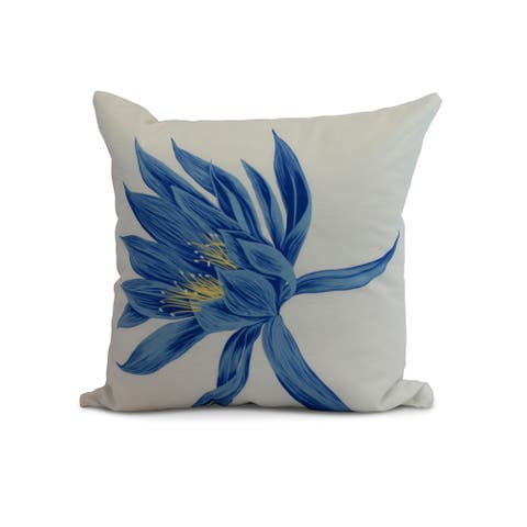 20 x 20 Inch Hojaver Floral Print Pillow