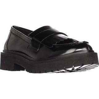 Nine West Account Platform Lug Sole Loafers, Black