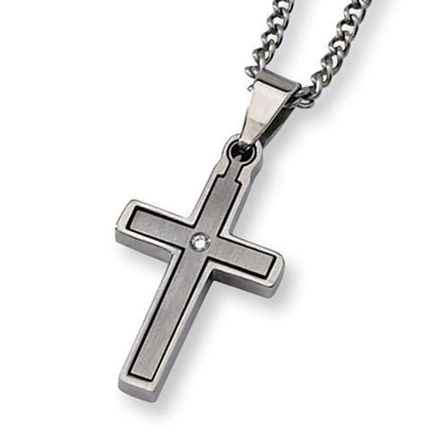 Buy Titanium Men's Necklaces Online at Overstock | Our Best Men's