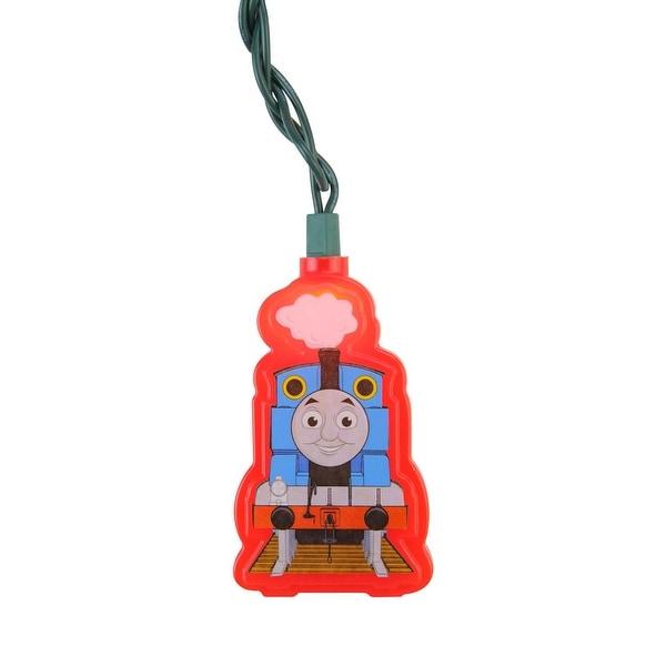 Set of 10 Thomas the Tank Train Car Christmas Lights - Green Wire