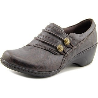 Clarks Channing Leary Women Round Toe Leather Brown Loafer