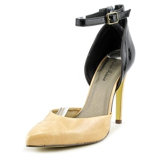 Michael Antonio Lunella Women Pointed Toe Synthetic Nude Heels