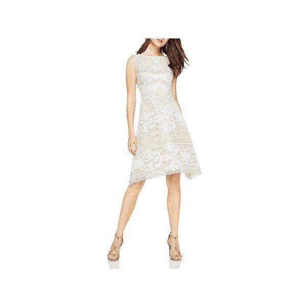 2e0de0fa1a Shop BCBG Max Azria Womens Kira Cocktail Dress Lace Illusion - Free ...