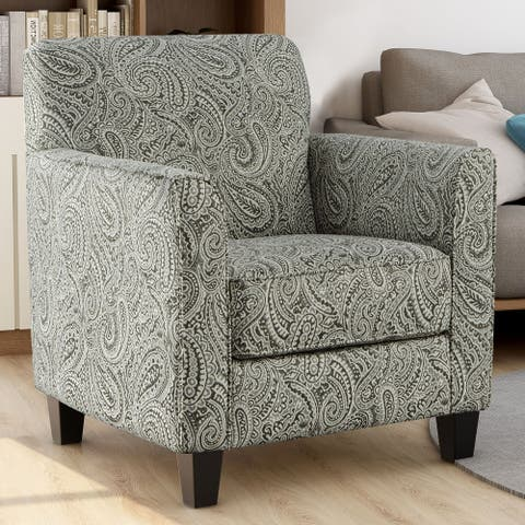 Furniture of America Limitte Transitional Paisley Pattern Armchair