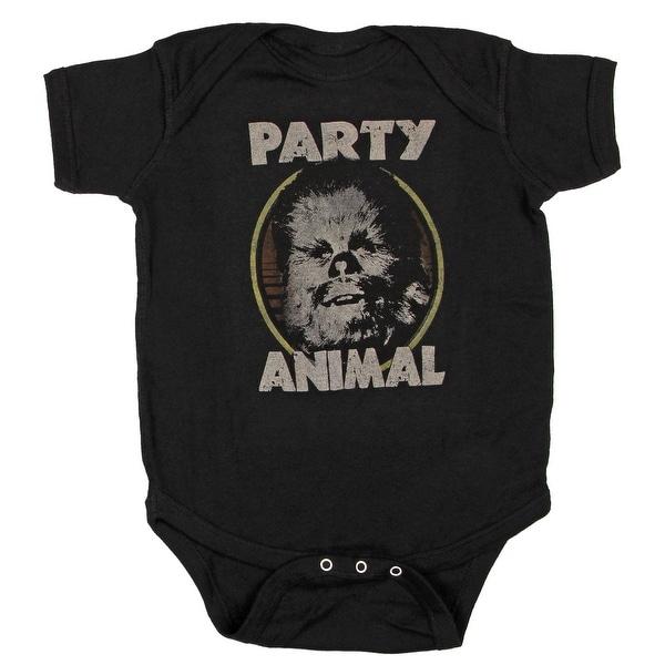 Star Wars Party Animal Chewbacca Wookie Baby Bodysuit