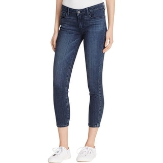 Paige Womens Skinny Jeans Denim Dark Wash - 27