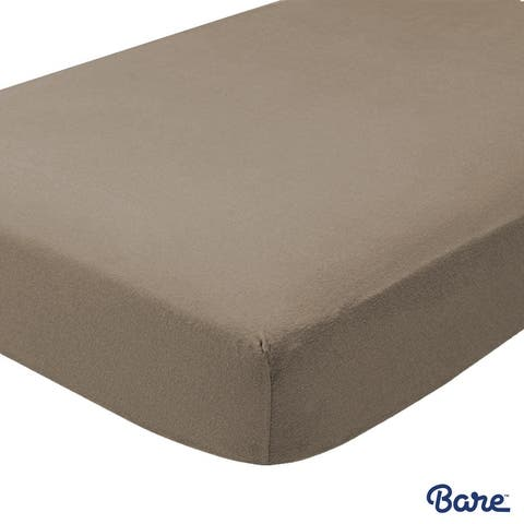 Bare Home 100% Cotton Flannel Fitted Bottom Sheet, Deep Pocket