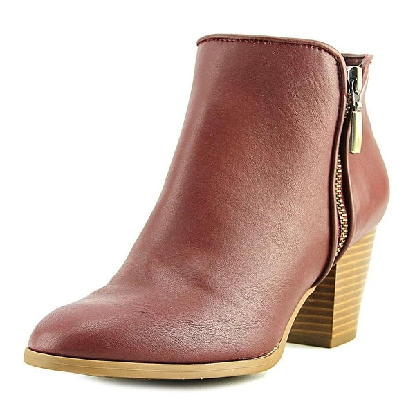 Style & Co Jamila Women Round Toe Synthetic Burgundy Ankle Boot - 5