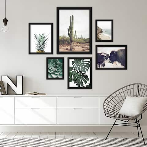Contemporary Southwest Photography 6 Piece Framed Gallery Wall Art Set