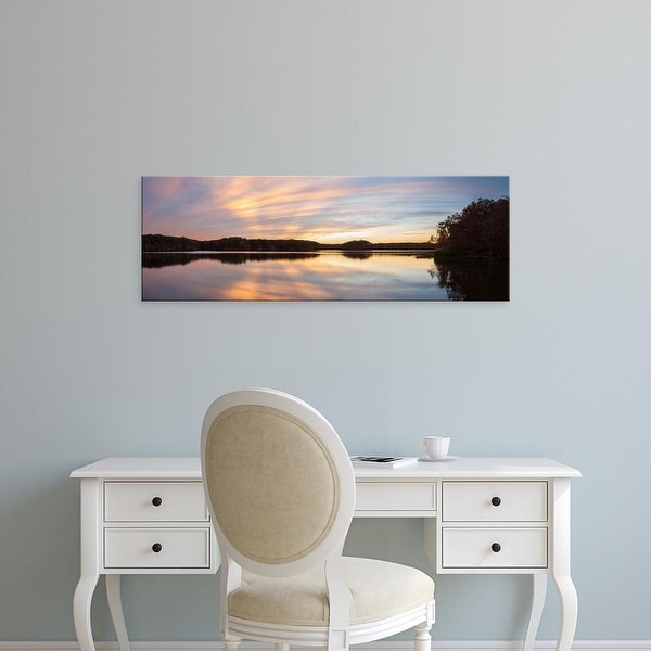 Easy Art Prints Panoramic Image 'Reflection, Stephen A. Forbes Recreation Area, Marion, Illinois' Canvas Art