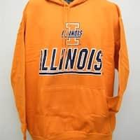 University of Illinois Fighting Illini Adult Mens Sizes L-XL Orange Hoodie