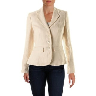 Lauren Ralph Lauren Womens Linen Long Sleeves Blazer - 4
