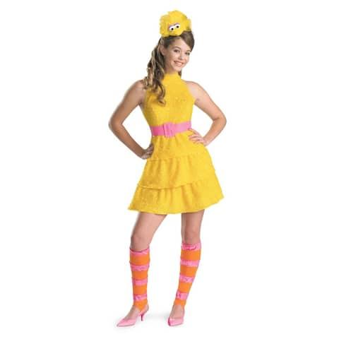 Sesame Street Big Bird Costume Teen - Yellow