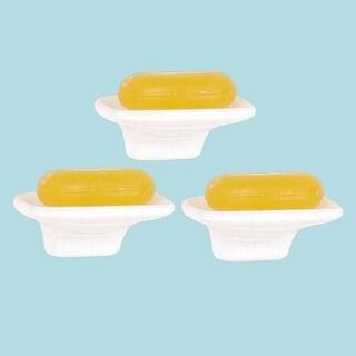 3 Wall Mount Soap Dish White Porcelain Legend Collection