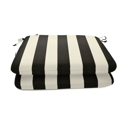 18-inch Square Striped Sunbrella Outdoor Seat Cushions (Set of 2)
