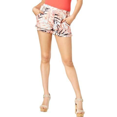 Guess Womens Shorts Printed High Rise