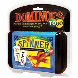 University Games UG55002 Dominoes Spinner To Go Game
