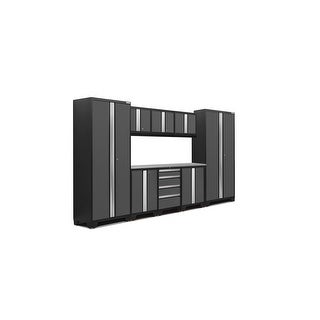 """NewAge Products Bold Series 3.0 132"""" W x 18"""" D Gray 9 Piece Set"""