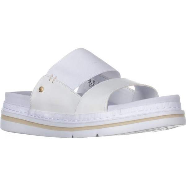 Dr. Scholls Blink Slide Platform Sandals, White