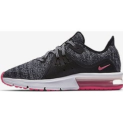 timeless design 22f99 120bd Shop NIKE Air Max Sequent 3 (GS) Girls Fashion-Sneakers 922885-001-Black White-Racer  Pink - Free Shipping Today - Overstock - 20999614