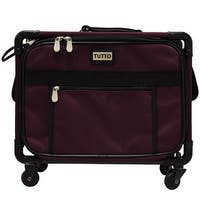 Tutto Small Carry-On/Small Machine on Wheels (Burgundy)