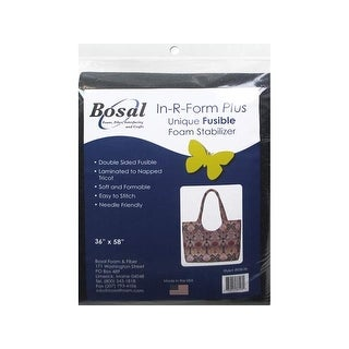 """Bosal In R Form Plus Fusible Dbl Sided 36x58"""" Blk"""