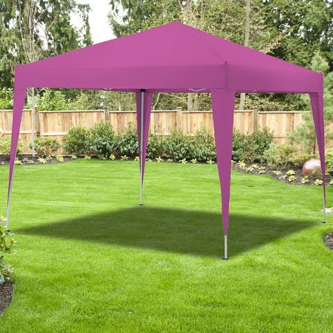 Outdoor 10x10FT Pop Up Canopy Tent Sunshade Instant Waterproof ShelterParty