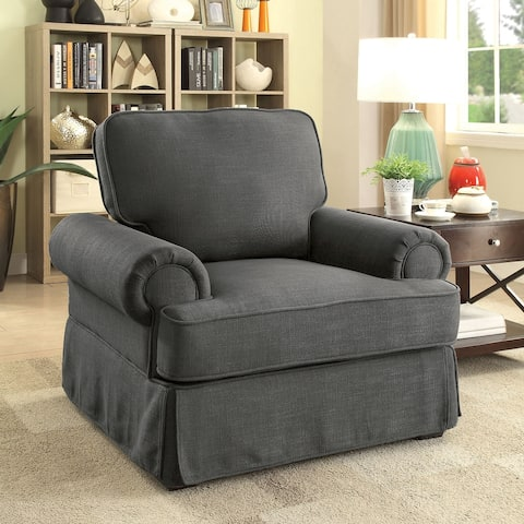 Furniture of America Cupa Transitional Linen Fabric Accent Chair