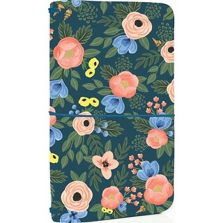 "Navy Floral - Echo Park Traveler's Notebook 6""X9"""