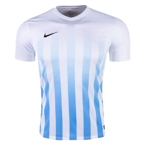 Nike Boys Striped Division II Jersey T-Shirt White Size Youth